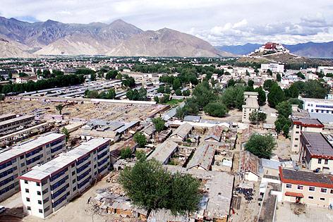 Stadtansicht von Lhasa, Tibet