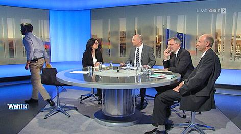 Abgang von Martin Ehrenhauser (Europa anders) aus dem TV-Studio