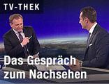 ZIB2-Moderator Armin Wolf mit FPÖ-Klubobmann Heinz-Christian Strache