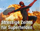 Superman springt