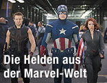 Hawkeye (Jeremy Renner), Captain America (Chris Evans) und Black Widow (Scarlett Johansson)