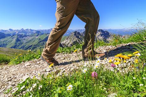 Wanderer mit festem Schuhwerk