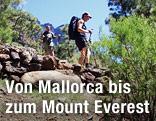 Wanderer auf Trekking-Tour auf der kanarischen Insel La Palma