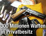 Schusswaffe in einem Waffengeschäft
