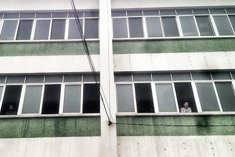 Streik in chinesischer Schuhfabrik