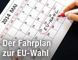 """""""EU-Wahl"""" in einem Kalender eingeringelt"""