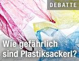 Plastiksackerl in verschiedenen Farben