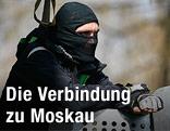 Prorussischer Demonstrant in der Ostukraine