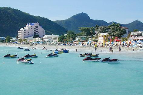 Strand in Philipsburg, Sint Maarten, Niederländische Antillen