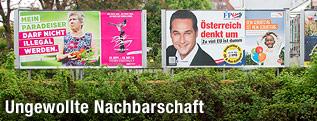 Plakatwerbung zur EU-Wahl 2014