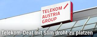 Schild der Telekom Austria Group