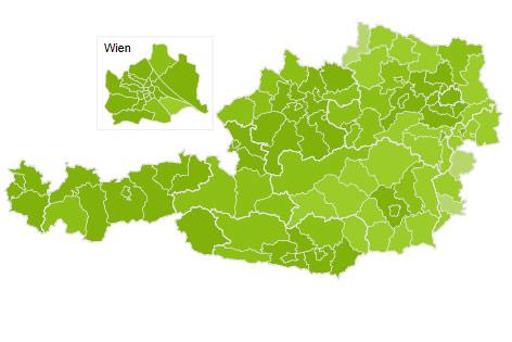 Heatmap zur Wähler der Grünen
