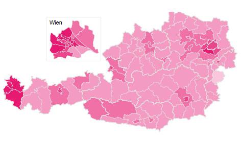 Heatmap zur Wähler der NEOS