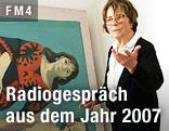 Die österreichische Malerin und Medienkünstlerin Maria Lassnig