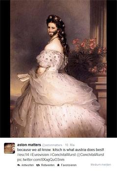 Bild der Kaiserin Sisi mit Vollbart