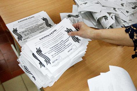 Ausgewertete Stimmzettel
