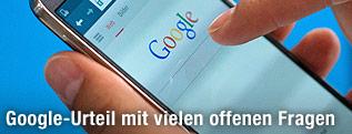 Google-Suchseite auf einem Smartphone