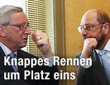 EU-Spitzenkandidaten Martin Schulz (SPE) und Jean-Claude Juncker (EVP)