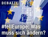 EU-Fahne mit Hashtag