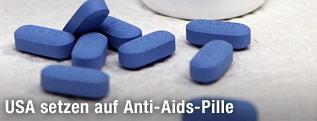 Blaue Tabletten