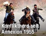 Uiguren am Pferd