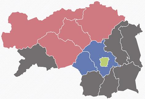 Karte zum Wahlergebnis