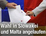 Stimmabagbe in der Slowakei