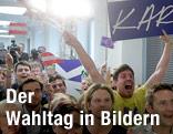 Jubel in der ÖVP-Parteizentrale