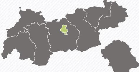 Tirolkarte der EU-Wahl