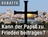 Kreuz vor Altstadt von Jerusalem