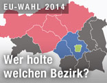 Steiermarkkarte zur EU-Wahl