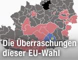 Österreichkarte zur EU-Wahl