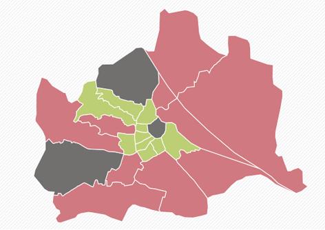 Wien-Karte zum Wahlergebnis