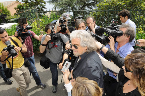 Komiker Renzo Grillo (Bewegung Fünf Sterne)