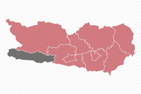 Karte zur EU Wahl: Kärnten