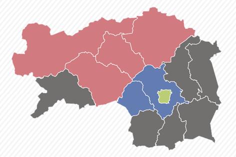 Karte zur EU Wahl:Steiermark