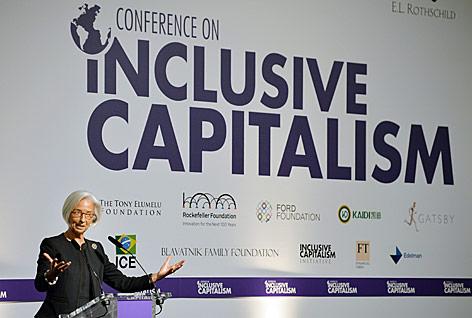 Christine Lagarde, Chefin des Internationalen Währungsfonds, spricht bei einer Konferenz