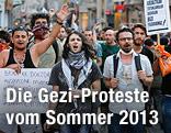 Demonstranten im Gezi-Park