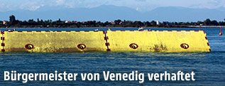 Unterwasserpanelen des Projekt MOSE (Experimental Electromechanical Module)