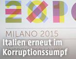 Logo der Expo 2015 in Mailand