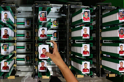 Produktion der Panini-Sticker