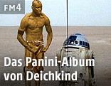 Ausschnitt aus dem Video von Deichkind zeigt Mario Balotteli als C3PO aus Star Wars