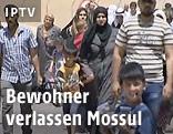 Flüchtende in Mossul