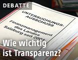 Dokumente beim U-Ausschuss in Salzburg
