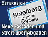 Ortsschild von Spielberg