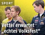 Sebastian Vettel bei der Streckenbesichtigung