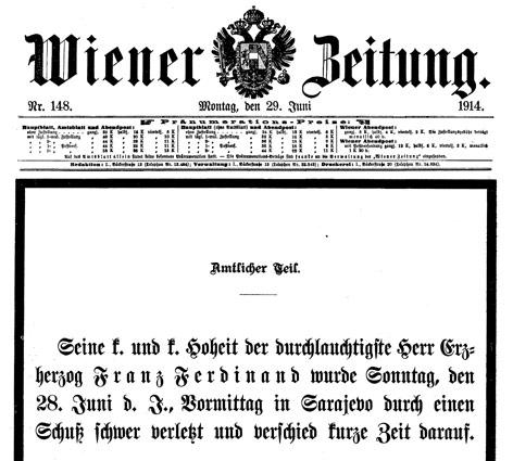 Zeitungsausschnitt aus dem Jahr 1914