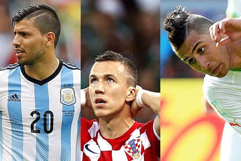 Fußballer Sergio Aguero, Ivan Perisic, Saphir Taider