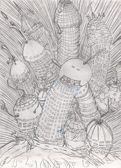 Zeichnung von Gelitin