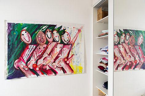 Ausstellungsansicht zeigt Arbeit von Sveta Shuvaeva